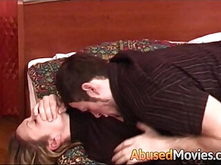 Sexy Brunette babe Getting Her Snatch Violated And Forced To Fuck