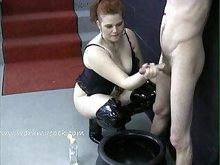 Looks like this mistress wants a jar full of cum