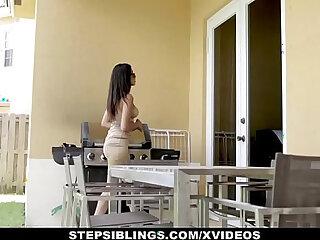 StepSiblings Stepsister Gives Her Asshole Brother A Lapdance