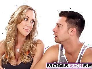 MomsTeachSex Hot Yoga Mom Fucks Son And Teen GF