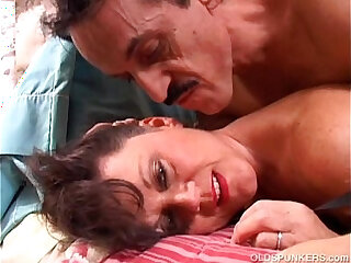 Debella is a saucy old spunker in stockings loves fuck