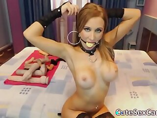 Latex Loving Girl Toying Ass and Anal Gaping on Webcam