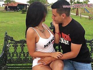 Silvia Santez Mexican brunnete Slut sucks and fucks a guy she just met