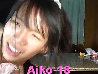 Petite teen Thai Saya 19 licks cock long tim