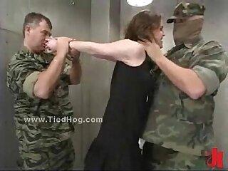 Tied redhead slut used like a sex slave