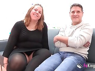 A chubby couple comes from to their first porn scene. God, I am so wet