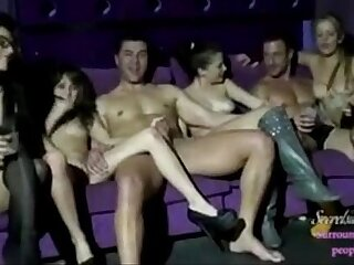 party at a swinger club