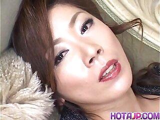 Japanese Model has vibrator on clitoris