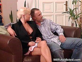 Two slutty MILF blondes wet pussy