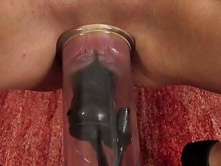 Moist puffy peach pumps her pussy