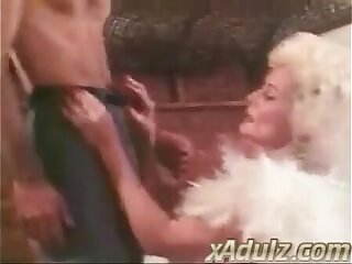 Retro Grey Haired Granny Gives Deepthroat and Tit Job