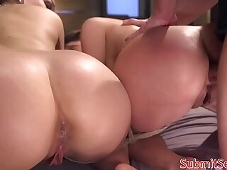 BDSM subs ass fucked hard doggystyle by maledom