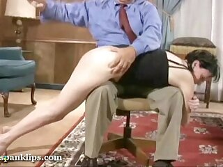 She is ready for her spanking
