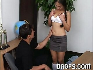 Asian petite is teached anal sex