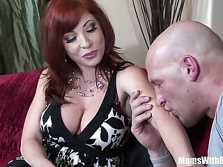 Redhead Mom Brittany OConnell Pierced Pussy Sexy Stockings gets Fucked