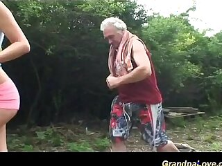 grandpa loves teen sex in nature