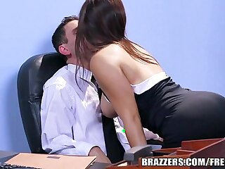 Office stocking threesome