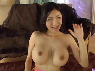 Busty Miho Ichiki plays with dick in a very sloppy mode More