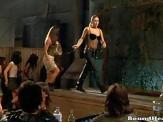 Naughty Lesbian Orgy And Slave Whipping