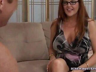 Redhead stepmom loose control